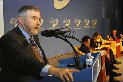 Paul Krugman durante su conferencia.- REUTERS